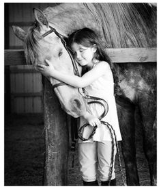 Every horse deserves to it least once be loved by a little girl