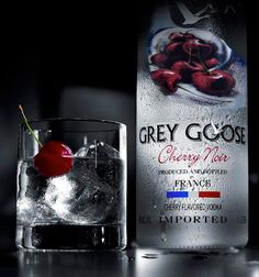 Happy Boozy Tuesday: I love everything cherry, and vodka is no exception! Loving Grey Goose Cherry Noir.