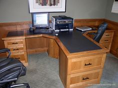 2 person office desks