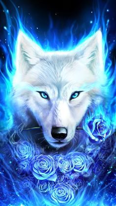 Fantasy/Wolf Wallpaper ID: 722859 - Mobile Abyss Anime Animals, Cute Animals, Galaxy Wolf, Wolf Artwork, Wolf Painting, Fantasy Wolf, Wolf Spirit Animal, Mythical Creatures Art, Wolf Pictures