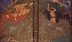 Salammbô de Gustave Flaubert (1862), reliure de Victor Prouvé (avec Camille Martin et René Wiener), 1893, cuir mosaïqué, incisé, pyrogravé, doré, émaux cloisonnés, Musée de l'Ecole de Nancy à Nancy.