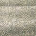 Pebble Velvet in Lake is a heavy weight upholstery fabric with a prominent high/low texture. A dusty blue raised reptile pattern against a silvery-taupe ground with a slight sheen.  Re-pin for a chance to win a $50 FabricSeen gift card!