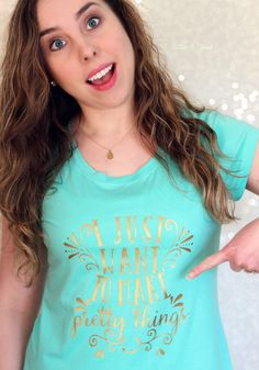 Excited about creating? Make a DIY graphic tee to show everyone. (Free cut file in post.) pitterandglink.com
