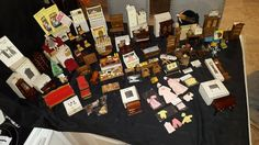 Vintage dollhouse furniture lot Over 200 Pieces!!!  (miniatures wood) MAKE OFFER