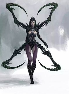 Spider Warrior by Manzanedo on DeviantArt Fantasy Warrior, Fantasy Rpg, Dark Fantasy Art, Fantasy Artwork, Fantasy Women, Fantasy Girl, Fantasy Creatures, Mythical Creatures, Character Inspiration