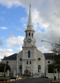 Dutch Reformed church of Wellington, Western Cape province, SA. Old Time Religion, Houses Of The Holy, Church Pictures, Cathedral Church, Old Churches, Church Building, Place Of Worship, Kirchen, Countries Of The World