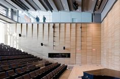 Image 7 of 10 from gallery of Perry and Marty Granoff Center for the Creative Arts, Brown University / Diller Scofidio + Renfro. Photograph by Iwan Baan Flur Design, Hall Design, Theatre Design, Auditorium Design, Photo D'architecture, Lecture Theatre, Brown University, Concert Hall, Ceiling Design