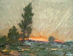 "Sidney Herbert Sime, ""Landscape and Sky"" (nd), oil on canvas (courtesy Sidney H…"