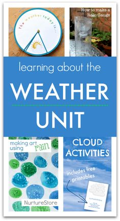 Five days of learning about the weather unit - weather lesson plans for elementary, weather printables Weather Activities For Kids, Teaching Weather, Weather Crafts, Science For Kids, Learning Activities, Stem Activities, Earth Science, Teaching Ideas, Preschool Lessons