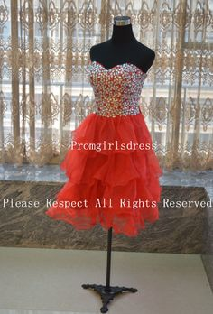 Homecoming Dress, Red Homecoming Dress, Short Red Prom Dress, Short Prom Dress Homecoming,Homecoming Dress Graduation on Etsy, $129.00