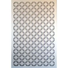 1/4 In. X 32 In. X 4 Ft. White Moorish Circle Vinyl Decor Panel
