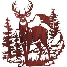 Deer Metal Wall Art