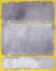 Grays in Yellow, by Mark Rothko, oil on paper mounted on canvas, 23 ¾ by 18 ¾ inches, 1960