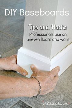 DIY baseboard tutorial with printable cheat sheet of cuts and terms. Shows how to install your own baseboards with tips and tricks the pros use.