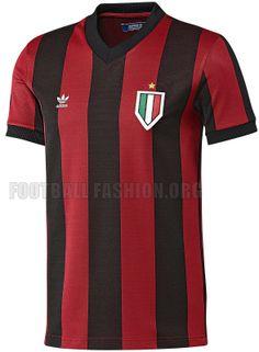 AC Milan 2013 adidas Originals Retro Home Shirt