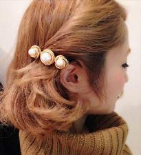 Women Fashion Wedding Bridal Gold Pearl Flower Hair Pins Clips Bridesmaid New