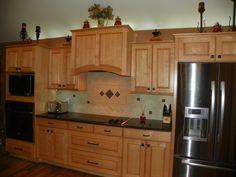 kitchen - maple cabinets