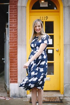 The best silk dress for spring from Club Monaco | Charmingly Styled