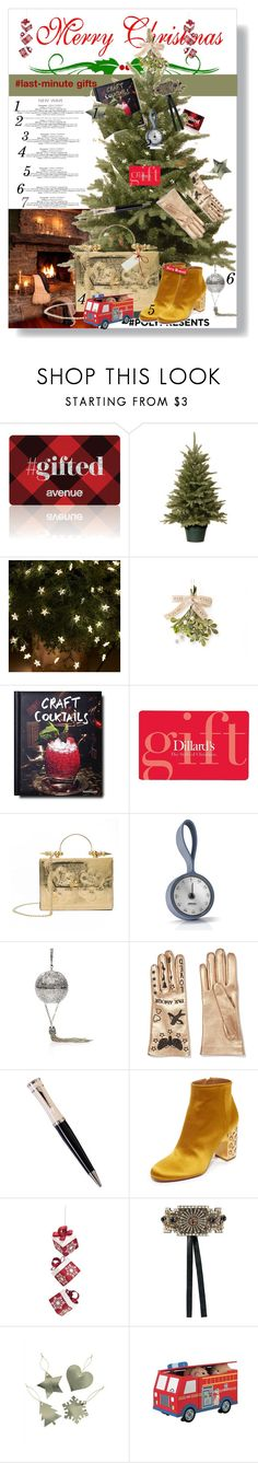 """""""#PolyPresents: Last-Minute Gifts"""" by leotajane ❤ liked on Polyvore featuring WALL, Avenue, Hostess, Assouline Publishing, Okhtein, Eva Solo, Judith Leiber, Gucci, Mont Blanc and Aquazzura"""