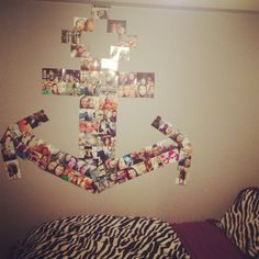 wall anchor photo arrangement... i would do this with my initials CMA