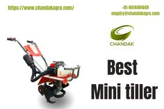 A Mini tiller can help you prepare or improve the soil to give your plants their best shot at good growth. Chandakagro's mini tillers are the best tool for making soil workable and transforming a landscape, but there isn't a one-size-fits-all solution for every garden. It is also easy to operate in a dry or wet field. One of the most important functions of a mini tiller is that it prepares an accurate seeded for the crop to be planted & warms the soil. For more details contact #MiniTiller Mini Tiller, Power Sprayer, Spray Hose, Car Washer, Outdoor Power Equipment, Seeded, Landscape, Garden, Easy