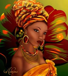My African roots. Black Love Art, Black Girl Art, My Black Is Beautiful, Art Girl, African Beauty, African Women, Afrique Art, African Art Paintings, Foto Poster