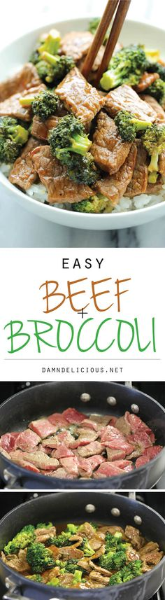 Easy Beef and Broccoli - The BEST beef and broccoli made in just 15 min. And yes, its quicker, cheaper and healthier than take-out!