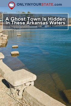 An underwater ghost town, thanks to the damming of an Arkansas river. Abandoned Cities, Abandoned Amusement Parks, Abandoned Houses, Abandoned Mansions, Vacation Places, Places To Travel, Places To Visit, Spooky Places, Haunted Places
