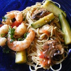 shrimp and pasta- this was very good. and my picky kids even ate the pasta without complaint. will be added to my recipe book. #shrimp #recipes #healthy #food