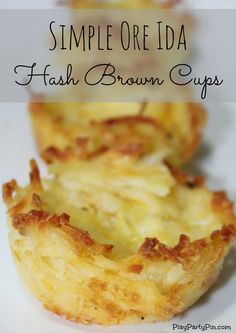 Hash Brown Cups - fill with chili for dinner, leftovers for lunch and egg & bacon for breakfast.