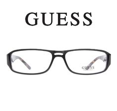 #Guess 1693 Black Tortoise - These #eyeglasses have a classic #vintage feel. The bridge cutout is accented by a textured split frame. The exterior of this frame is a glossy black with a havana interior that is echoed on the temples.