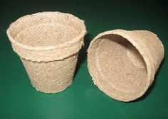 "50 - JIFFY PEAT POTS - 2.25"" ROUND - BIODEGRADABLE SEED STARTING GARDEN SUPPLIES"