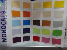 Monocapa en 4L. 22,00€ unidad. 25 Colores para elegir