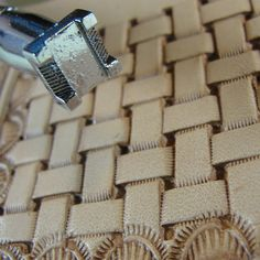 Leather Stamping Tool - X517 Basket Weave Stamp