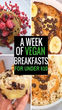 A breakfast round up post featuring vegan recipes!