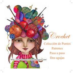 Delicadezas en crochet Gabriela: Colección de puntos con patrones e indicaciones