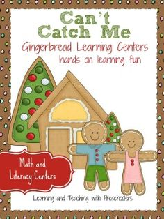 Your little ones will be eager to participate with these fun hands on learning centers for math and literacy.  This packet includes Uppercase and Lowercase Letter Matching Center Beginning Sound Letter Matching Center Cookie Sheet Counting Syllables Center Gingerbread House How Many Gumdrops (one to one correspondence) Counting to 20 Cookie Sheet 10 Frame Number Mats 57 pages