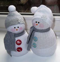 Sock snowmen.