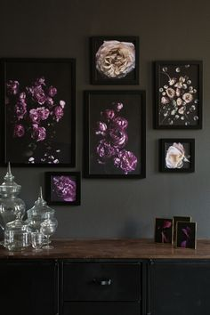 """botanic-art: """" Our first floral prints are up on the wall. ©Botanic Art """""""