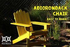 Summertime relaxing adirondack chair