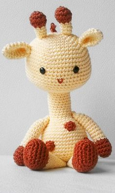 Giraffe crochet pattern #amigurumi