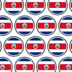 Costa Rica National Country Flag Premium Gift Wrap Wrapping Paper Roll