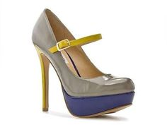 Steve Madden Grey Multi-Color Mary Jane Pump 9M with box