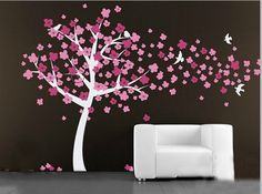 Hey, I found this really awesome Etsy listing at http://www.etsy.com/listing/169984351/vinyl-nursery-tree-wall-decal-cherry