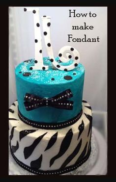 Sweet 16 Cake Great decorating tips here. If only my sweet 16 cake had turned out like this...the 16I had made to pu t on my cake melted