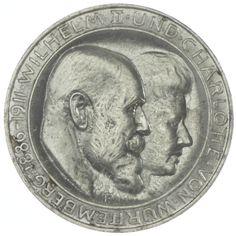 3 MARK 1911 F Württemberg, Wilhelm II. 1891 - 1918