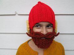 Yukon Cornelius hat beard Beanie crochet hat by Ritaknitsall