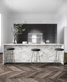 when it comes to kitchens, go Parisian... sublimely minimal yet (covertly) well equipped...