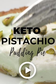 Keto Pistachio Pudding Pie by I Breathe Im Hungry This easy rich and luscious filling doesnt require cooking making this delicious low carb pudding pie fast and easy Pin. Pistachio Dessert, Pistachio Pudding, Low Carb Desserts, Low Carb Recipes, Low Carb Dessert Easy, Dessert Recipes, Jar Recipes, Yogurt Recipes, Simple Recipes