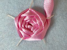 Ribbon Rose - step by step instructions